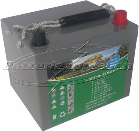 AGM batteri 12V 56Ah. LxBxH:196x165x175/187mm