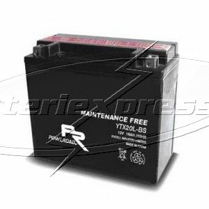 MC-batteri AGM 18Ah YTX20A-BS Extreme Poweroad lxbxh=150x87x161mm