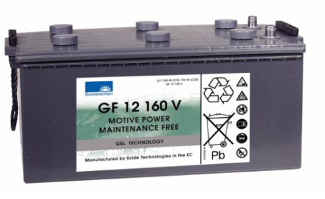 Gelbatteri 12V 196 Ah Sonnenschein GF12160V. LxBxH:518x274x238mm