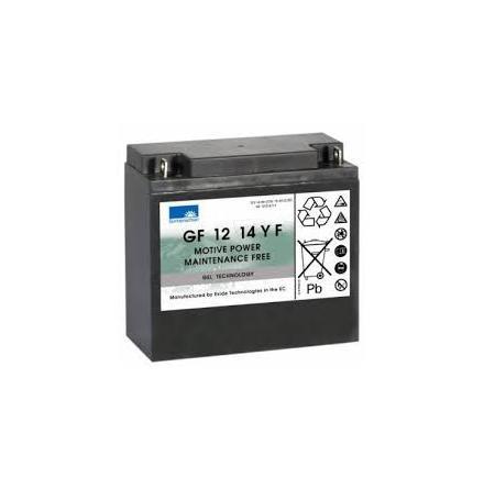 Gelbatteri 12V 15 Ah Sonnenschein GF12014YF. LxBxH:181x76x167mm