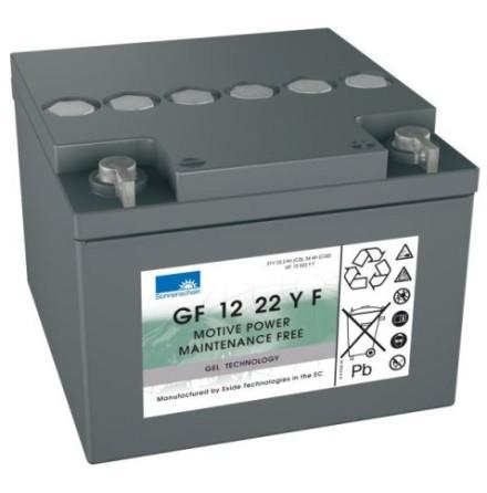 Gelbatteri 12V 24 Ah Sonnenschein GF12022YF. LxBxH:167x176x126mm