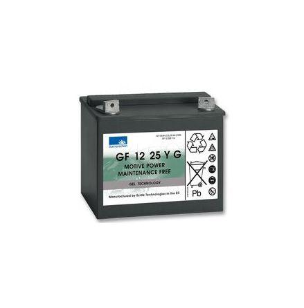 Gelbatteri 12V 25Ah Sonnenschein GF1225YG. LxBxH:197x132x180mm