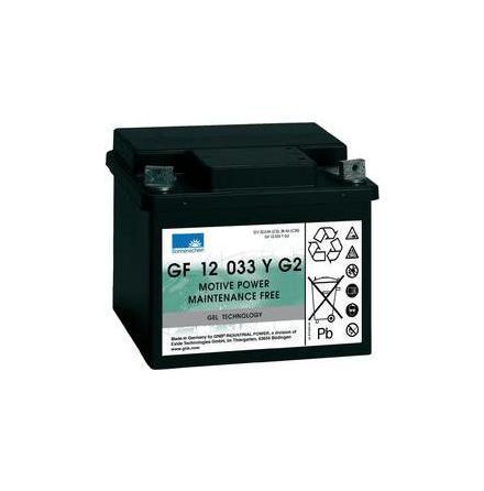 Gelbatteri 12V 38 Ah Sonnenschein GF12033YG2. LxBxH:210x175x175mm