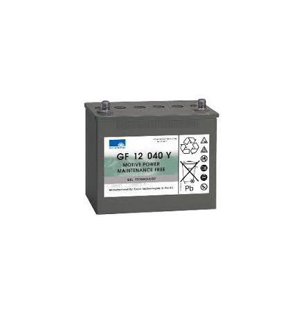 Gelbatteri 12V 48Ah Ah Sonnenschein GF12040Y. LxBxH:242x175x190mm