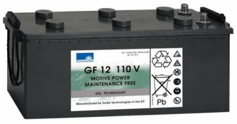 Gelbatteri 12V 120 Ah Sonnenschein GF12110V. LxBxH: 513x223x219mm