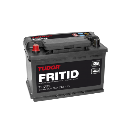 Fritidsbatteri 12V 72Ah Tudor Exide TU72L LxBxH:278x175x190mm