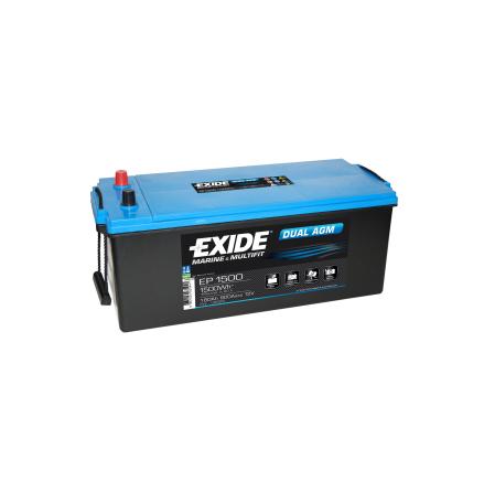Fritidsbatteri 180Ah AGM Dual Tudor Exide EP1500 LxBxH 480/515x225x225mm