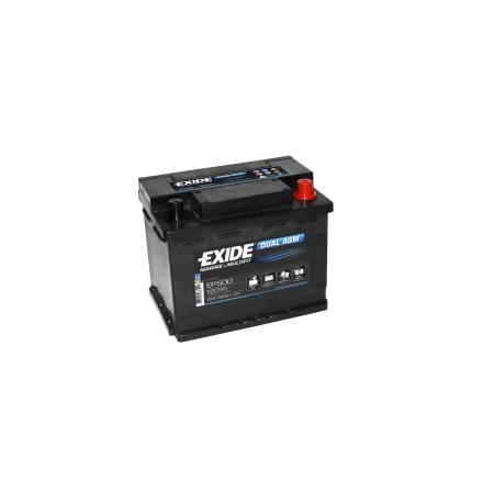 Fritidsbatteri 60Ah AGM Dual Tudor Exide EP500 LxBxH:242x175x190mm