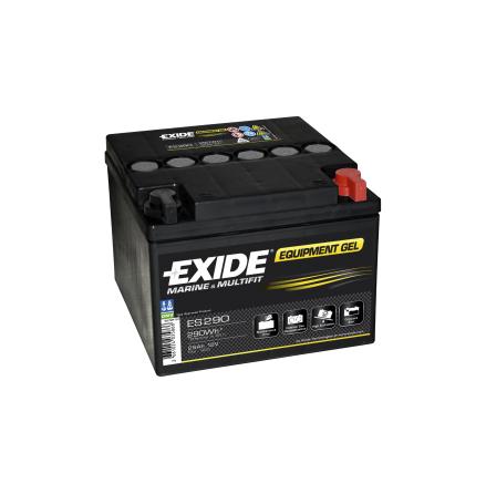 Fritidsbatteri 25Ah GEL Tudor Exide GEL ES290 LxBxH:165x175x125mm