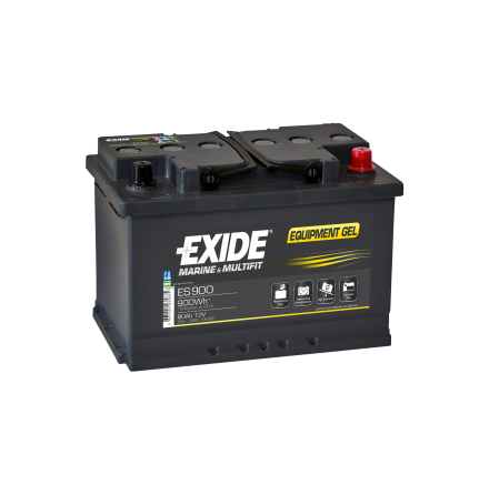 Fritidsbatteri 80Ah GEL Tudor Exide GEL ES900 LxBxH:353x175x190mm