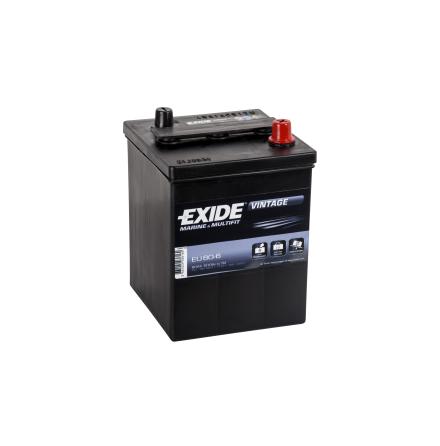 Startbatteri 6V 80Ah Tudor Exide Vintage EU80-6. LxBxH:158x165x220mm veteranbilsbatteri