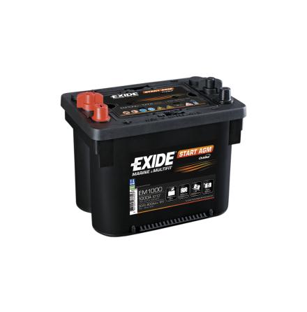 Startbatteri 50Ah AGM Tudor Exide EM1000. LxBxH:265x175x206mm Orbital teknologi