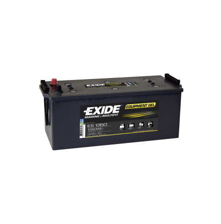 Fritidsbatteri 120Ah GEL Tudor Exide GEL ES1350 LxBxH:515x190x225mm