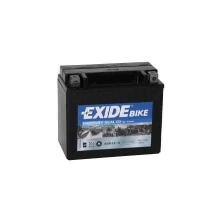 Tudor Exide MC batteri 10Ah AGM 12-10 4916 lxbxh=150x87x130mm  YB12B-B2 YT10B-4 YTX12-BS