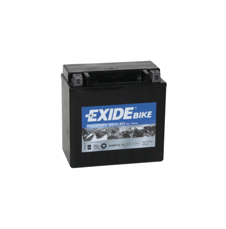 Tudor Exide MC batteri 12Ah AGM 12-12 4918 SLA12-12