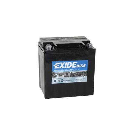 Tudor Exide MC batteri 30Ah AGM 12-31 4990 lxbxh=166x130x175mm YB30L-B YIX30L Y60-N24AL-B Y60-NL24L-A Y60-NL30L-A Y60-NL30L-B