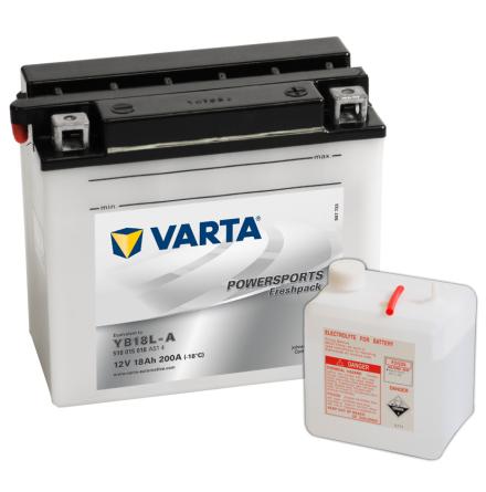 MC-batteri 18 Ah YB18L-A Varta lxbxh=181x92x164mm