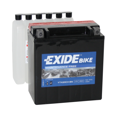 Tudor Exide MC batteri 18Ah AGM YTX20CH-BS 4999 lxbxh=150x87x161mm
