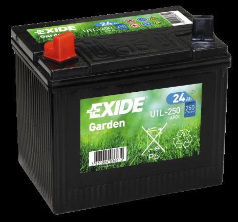 Tudor Exide MC Garden Gräsklipparbatteri 24Ah lxbxh=197x132x186mm U1L-250 4901
