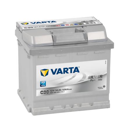 Bilbatteri 12V 54Ah Varta Silver Dynamic C30 LxBxH=207x175x190mm 554400053