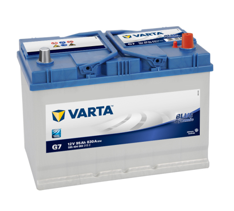 Bilbatteri 12V 95Ah Varta Blue Dynamic G7. LxBxH=306x173x225mm