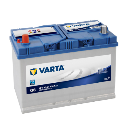 Bilbatteri 12V 95Ah Varta Blue Dynamic G8. LxBxH=306x175x225mm