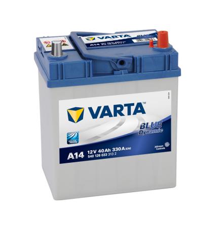 Bilbatteri 12V 40Ah Varta Blue Dynamic A14 LxBxH=187x127x227mm 540126033