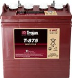Deep-cycle batteri 8V 170Ah Trojan T-875 LxBxH:264x181x241/276mm