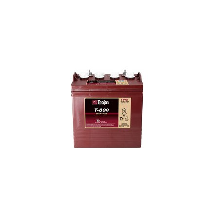 Trojan T-890 batteri Deep-cycle 8V 190Ah LxBxH:264x181x241/276mm