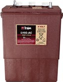 TROJAN L16GAC  Deep-cycle batteri 6V 390Ah LxBxH:295x178x385/420mm