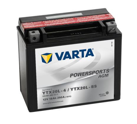 Varta MC batteri AGM 18Ah YTX20L-BS