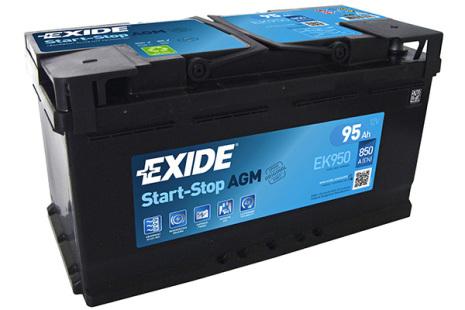 Exide AGMbatteri Startstop 12V/95Ah