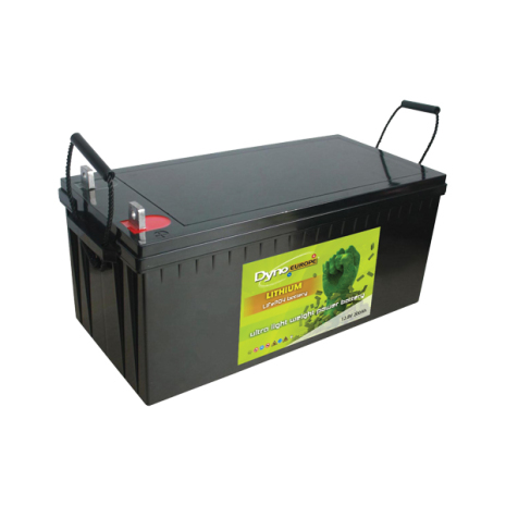 Lithium-Ion batteri(LiFePO4) 12,8V/200Ah med PCM till båt, husbil mm. 2560Wh