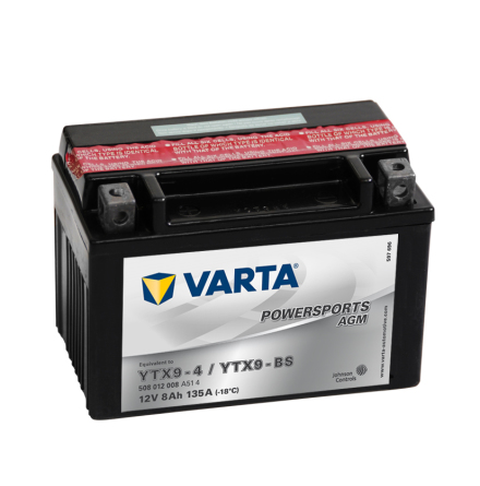 MC batteri Varta 12V/8Ah YTX9-BS YTX9-4