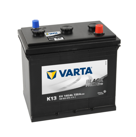 Bilbatteri 6V 140 Ah Varta K13 LxBxH=260x175x236mm PRO Black VP140  DIN:140023072