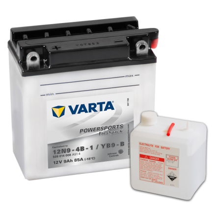 MC-batteri 9Ah Varta YB9-B 12N9-4B-1 lxbxh=136x76x140mm