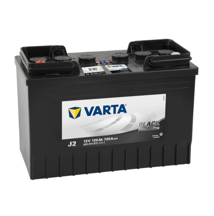 Startbatteri Varta 12V 125Ah LxBxH=349x175x290mm 625014072 J2 PRO black VP125