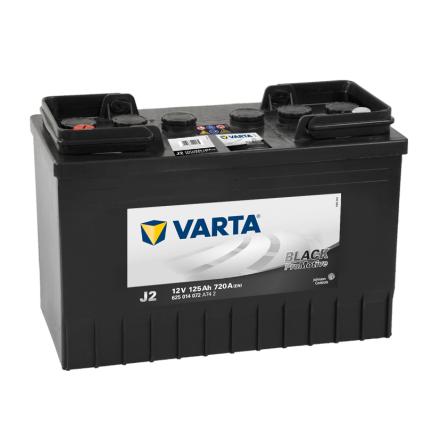 Startbatteri Varta  12V 125Ah 625014072 J2 PRO black VP125