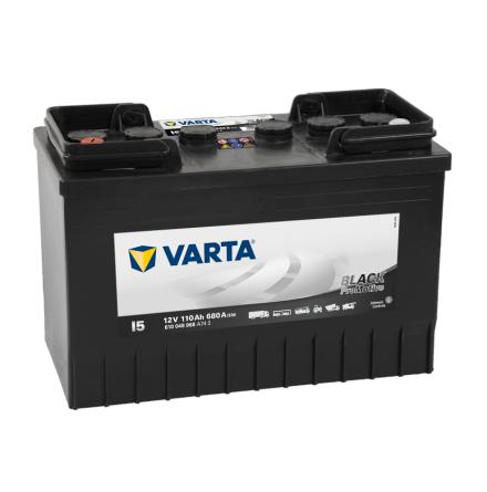 Bilbatteri 12V 110 Ah Varta I5PRO LxBxH=347x173x234mm black HD110  610048068