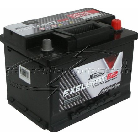 Bilbatteri 12V 66Ah LxBxH:242x175x190mm (Amerikanska)-Extreme Excellent DIN:563400061