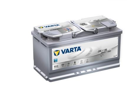 Bilbatteri 12V 95Ah Varta Silver Dynamic G14 AGM LxBxH=353x175x190mm