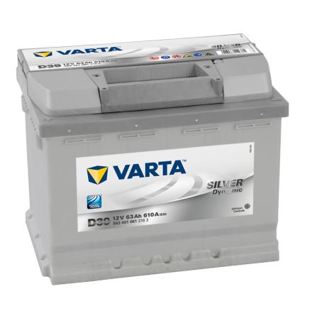 Startbatteri Varta Silver Dyn. 12V/63Ah