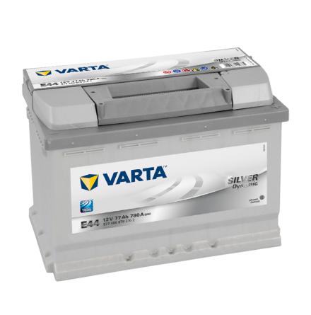 Bilbatteri 12V 77Ah Varta Silver Dynamic E44 LxBxH=278x175x190mm 577400078