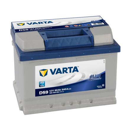 BIlbatteri 12V 60Ah Varta D59 Blue Dynamic LxBxH=242x175x175mm 560409054