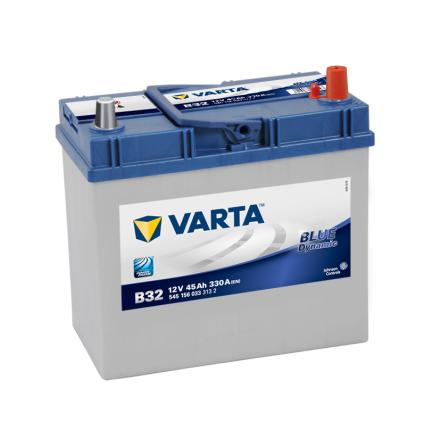 Bilbatteri 12V 45Ah Varta Blue Dynamic B32 LxBxH=238x129x227mm 545156033