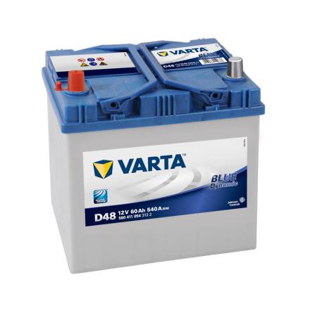 Bilbatteri 12V 60Ah Varta D48 Blue Dynamic LxBxH=232x173x225mm 560411054