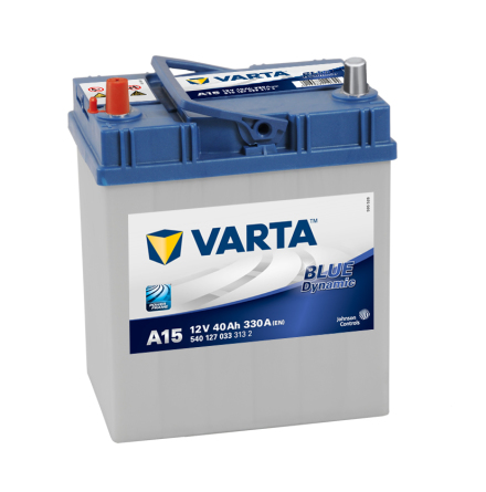 Bilbatteri 12V 40Ah Varta Blue Dynamic A15 LxBxH=187x127x227mm 540127033