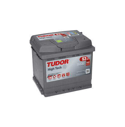 Startbatteri 53Ah Tudor Exide TA530 High Tech. LxBxH:207x175x190mm