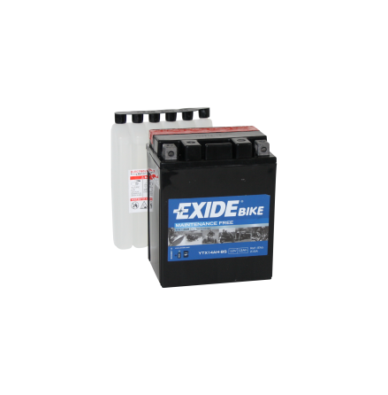 Tudor Exide MC batteri 12Ah AGM YTX14-BS 4995 lxbxh=134x89x164mm