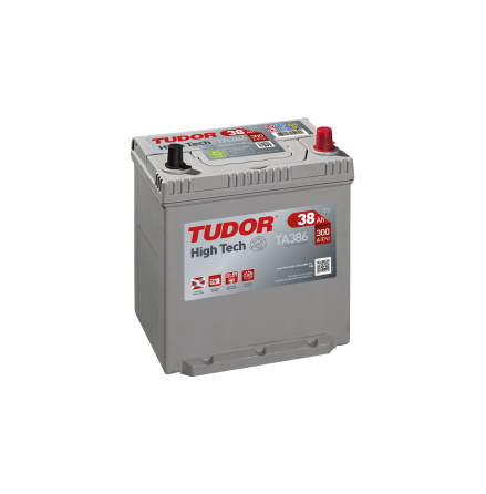 Startbatteri 38Ah Tudor Exide TA386 High-Tech. LxBxH:187x127x220mm